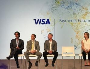 CEO Max Eliscu speaking at Visa Payments Forum