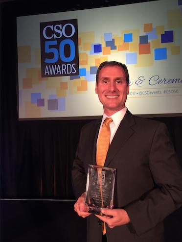 CSO Dr. Christopher Pierson receives CSO50 Award 2017