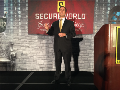 CSO Dr. Christopher Pierson speaking at SecureWorld Expo 2017